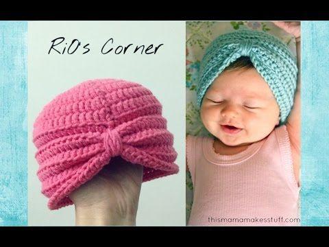 Crochet Baby Turban - YouTube | crochet | Pinterest | Mütze ...