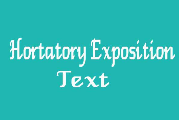 hortatory exposition text