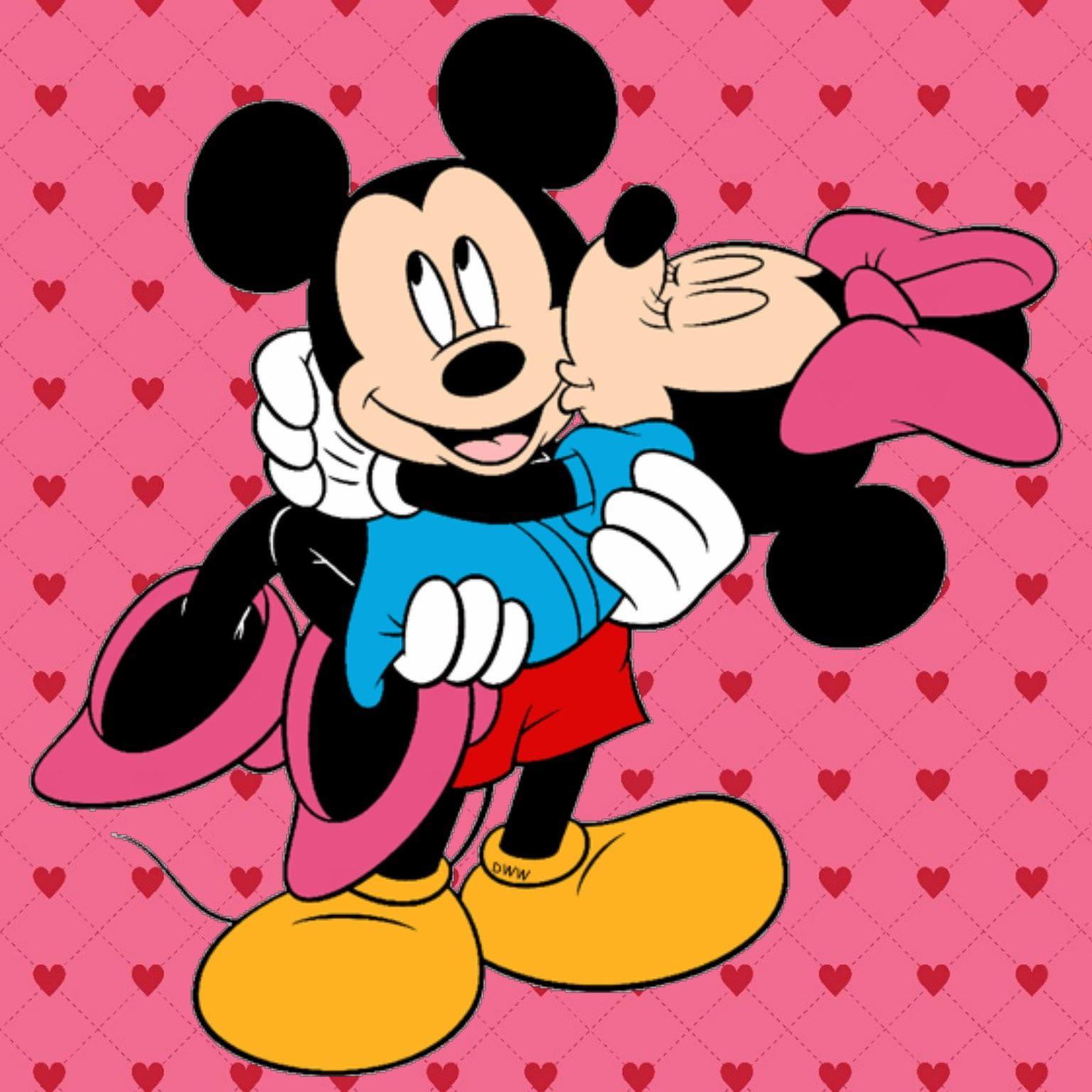 Mickey Minnie Mickey Papel De Parede Romantico Papeis De
