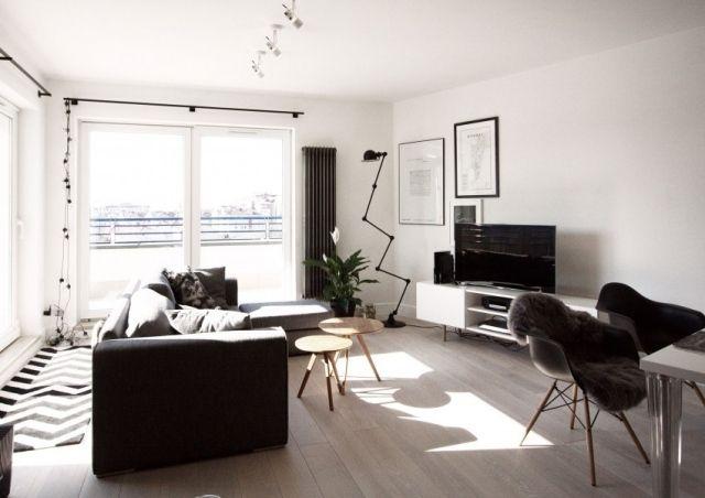 Skandinavischer Einrichtungsstil skandinavischer einrichtungsstil schwarz weiß farbschema gemütliche