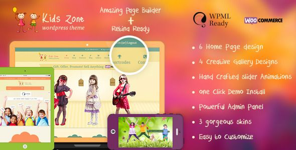 Kids Zone | Children & Kids WordPress Theme | Website-Templates ...
