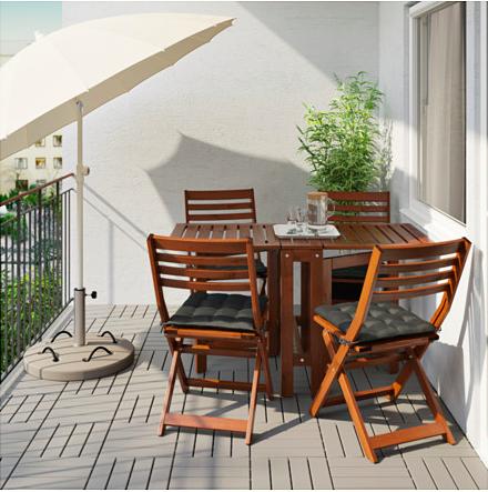 äpplarö Ikea Table For The Balcony My Tiny Backyard