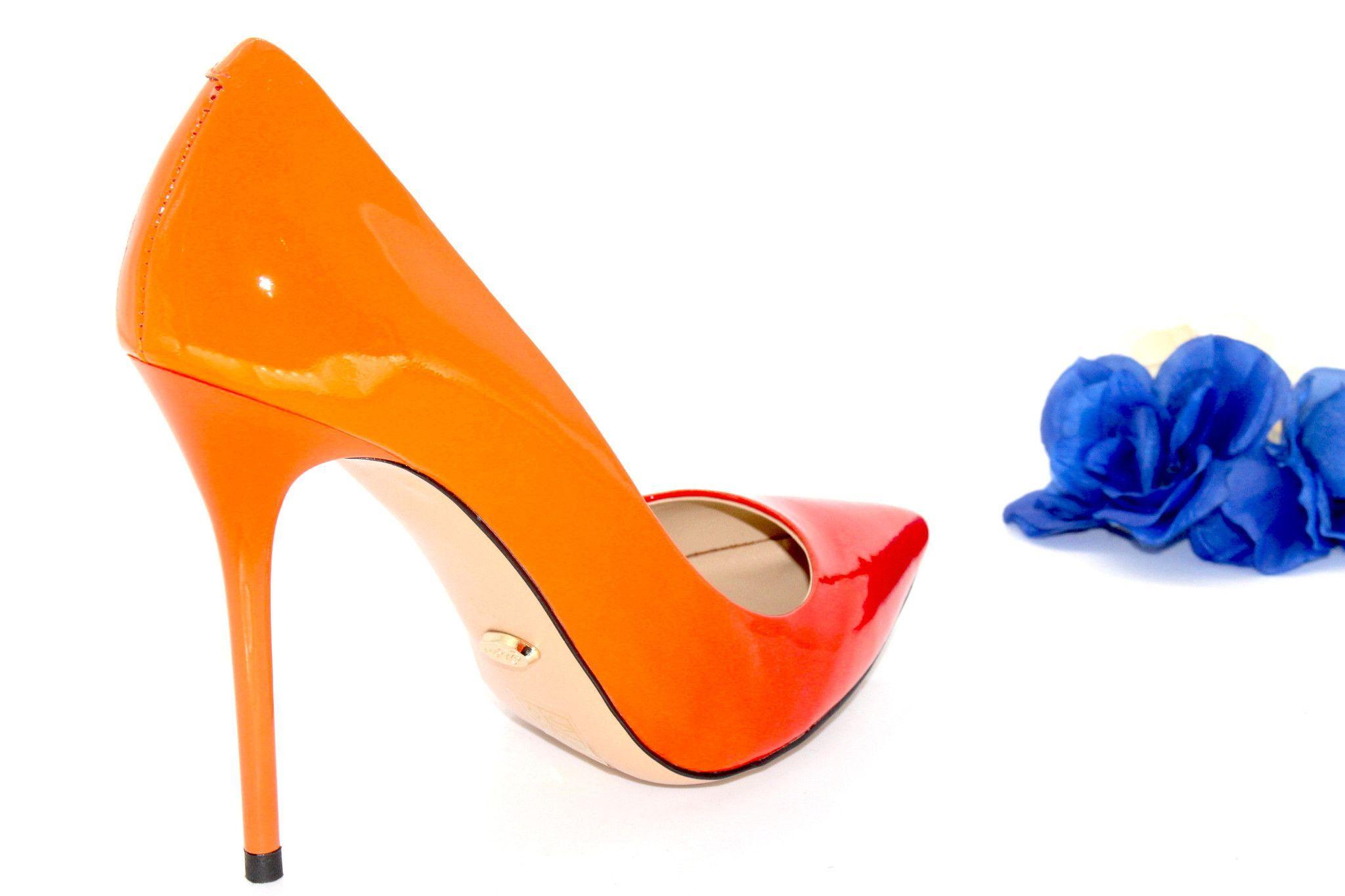 Orange shoes, cheap orange shoes, sexy orange shoes for women