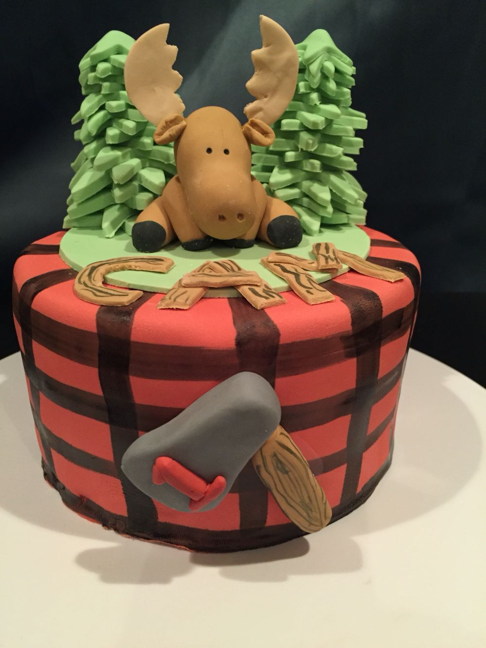 Brilliant Moose Lumber Jack Smash Cake Lumberjack Birthday Party Moose Funny Birthday Cards Online Overcheapnameinfo