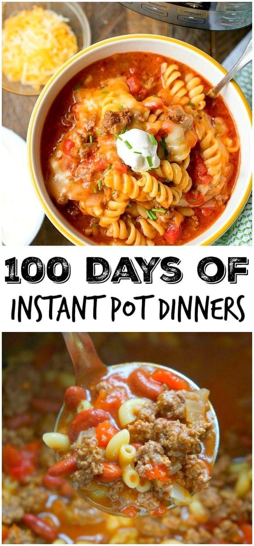 100 Days of Instant Pot Dinner Recipes!