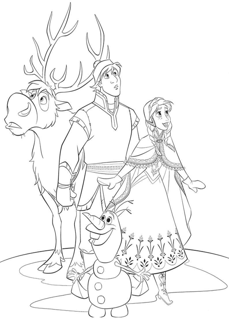 Kolorowanka Dla Dzieci Disney Kraina Lodu Coloring Pages Frozen Coloring Pages Coloring Books