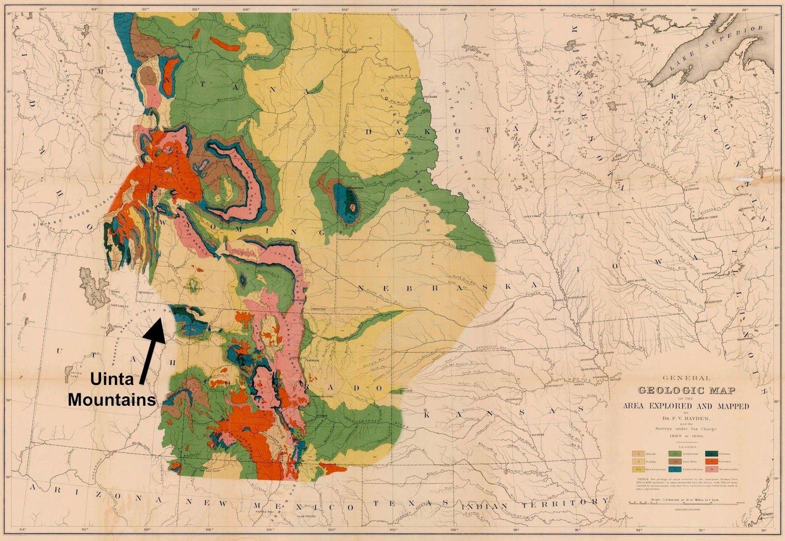 Uinta Mountains (southwest Wyoming and northeast Utah) on ...