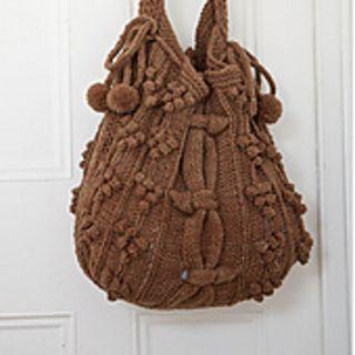 lovely knitting pattern for autumn bag #knittingpattern #knittingpursepattern