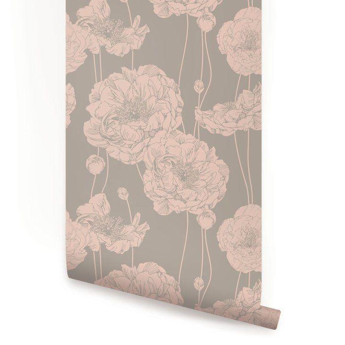 Mullen Peony Peel and Stick Wallpaper Panel Peel, stick