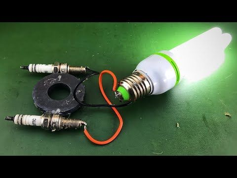 Make Electric Free Energy Using Magnet With Spark Plug Science For 2019 - YouTube