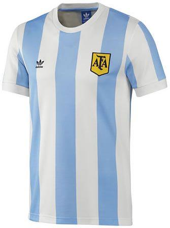 L'argentina 2014 Adidas Originali Retro Sportivi Maglia Vestiti Sportivi Retro a7c236