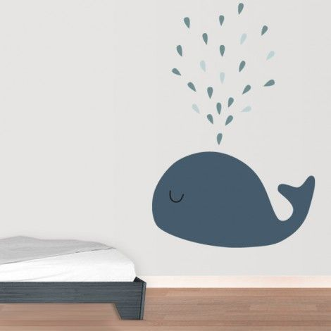 Removable reusable wall decals. Adhesiu re-usable balena #decoration #wall #sticker