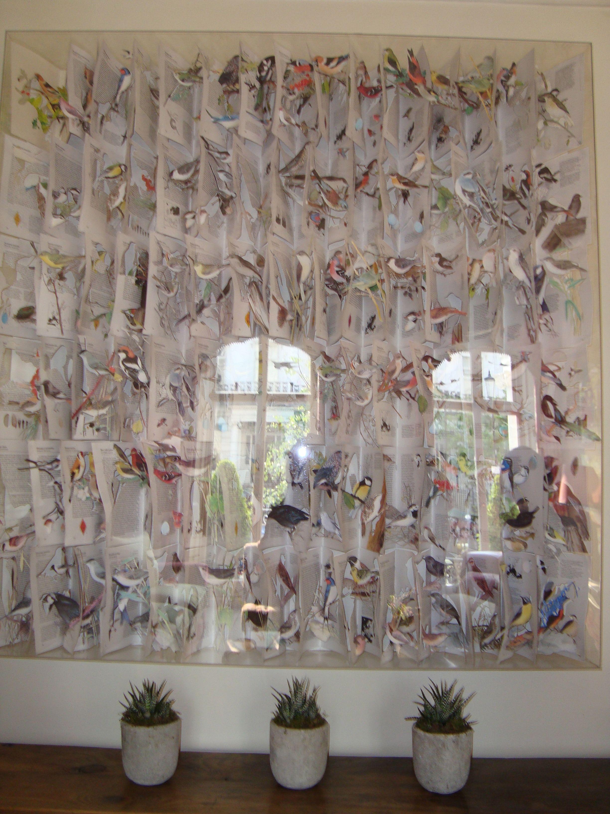 Kit Kemp  - Number Sixteen - framed bird cut outs