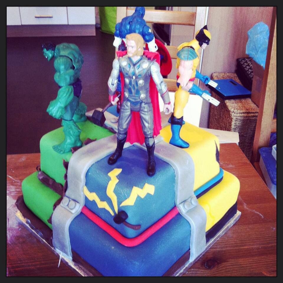 Avengers Cake x 1 of my fav's that I made x (With images