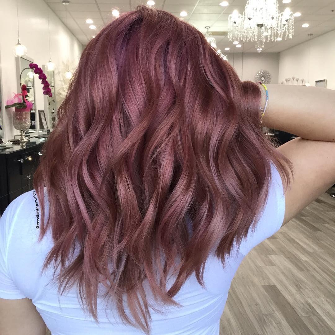 40 Rose Gold Hair Color Ideas Dark Light Shades Highlights Styles Hair Color Rose Gold Light Hair Color Light Hair
