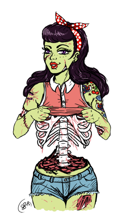 zombie pin up by on deviantart zombie pinterest tattoo. Black Bedroom Furniture Sets. Home Design Ideas