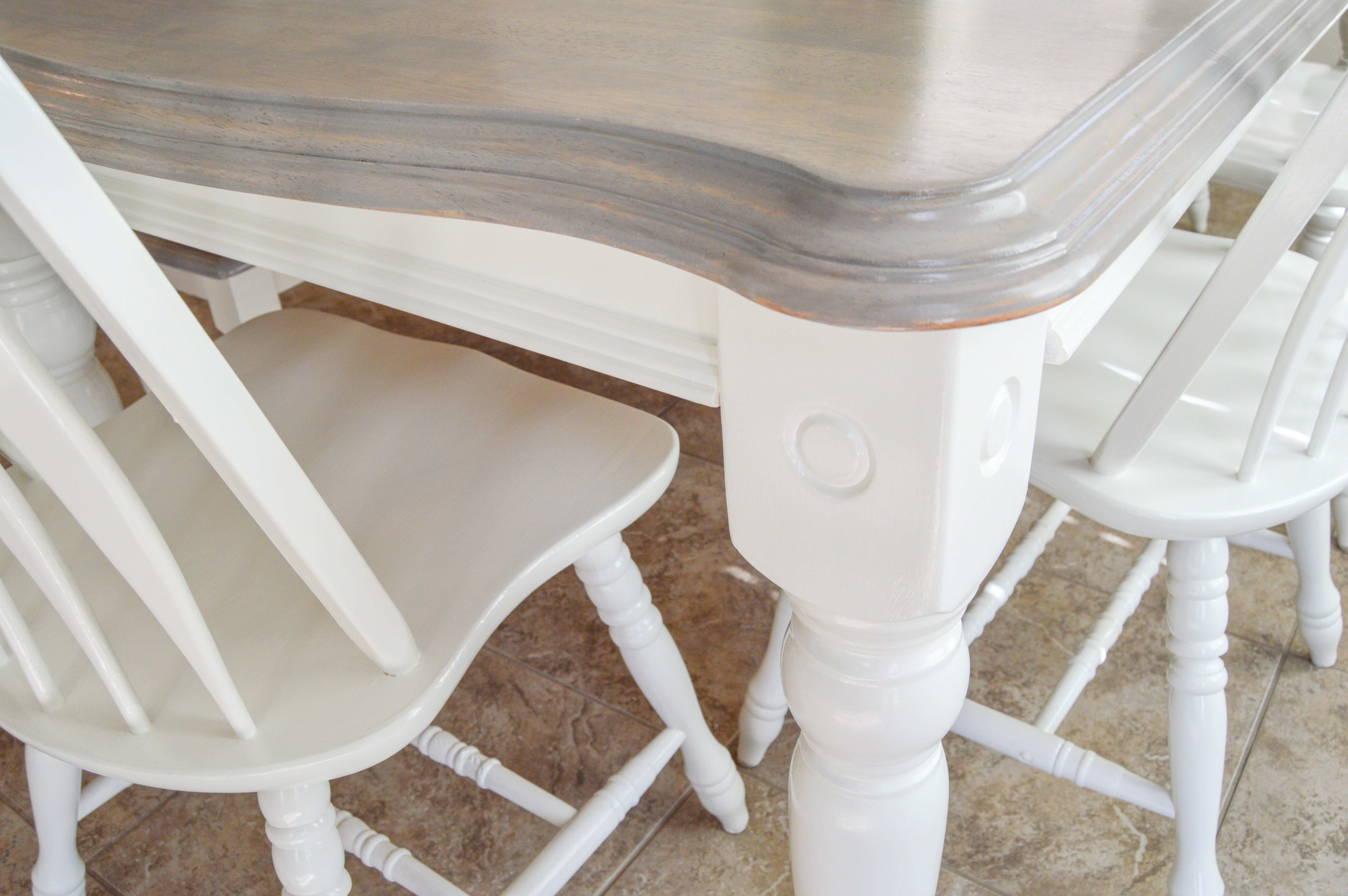 Diy Grey Paint Wash Dining Table Chairs Grey Dining Tables