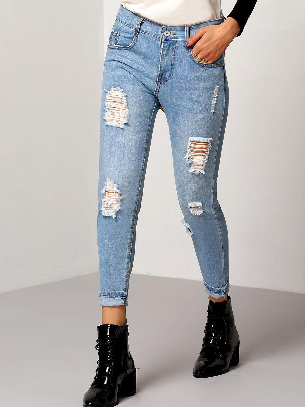 Ripped Jeans & Zerrissene Jeans günstig online kaufen