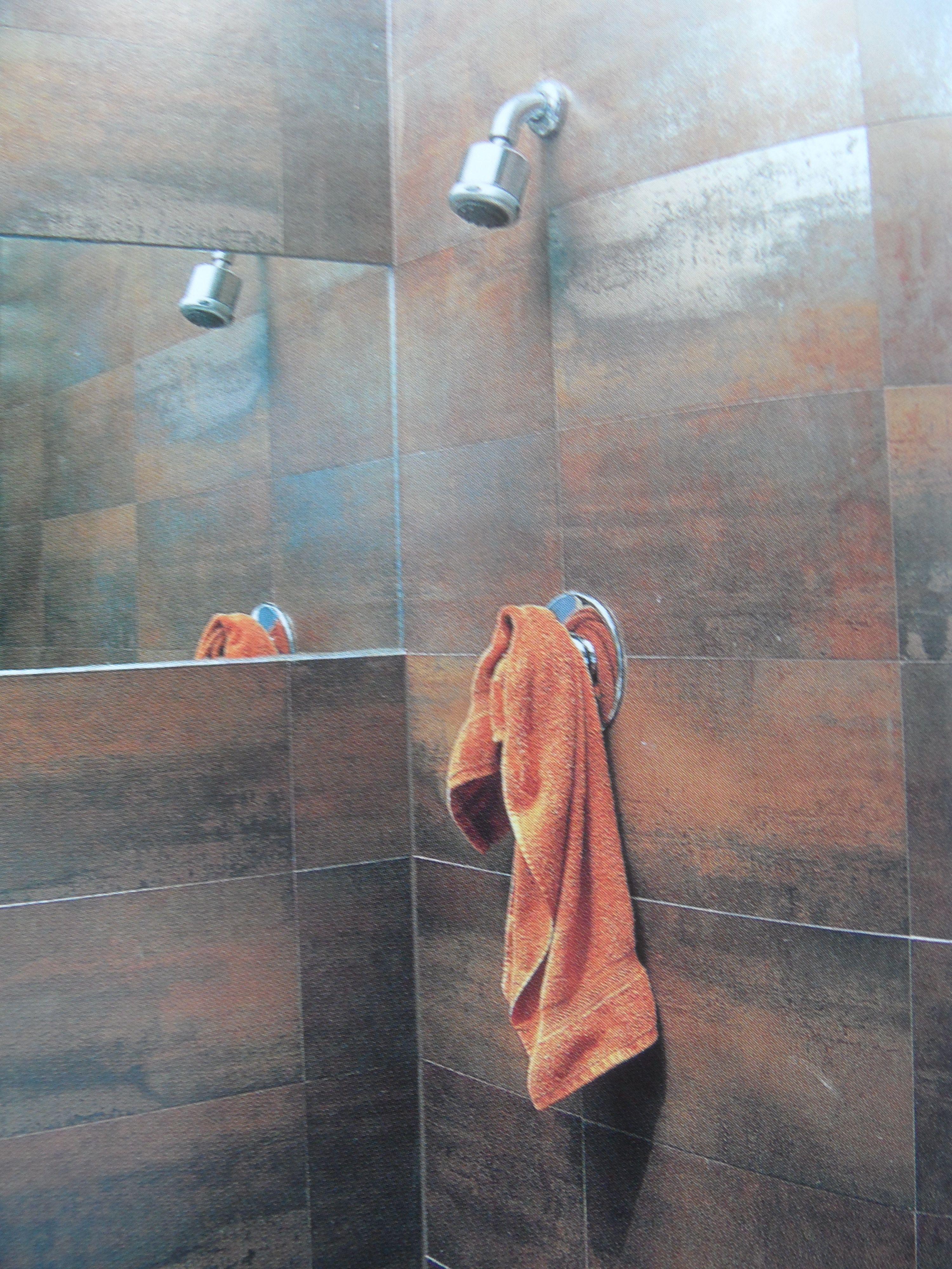Rusty coloured tiles