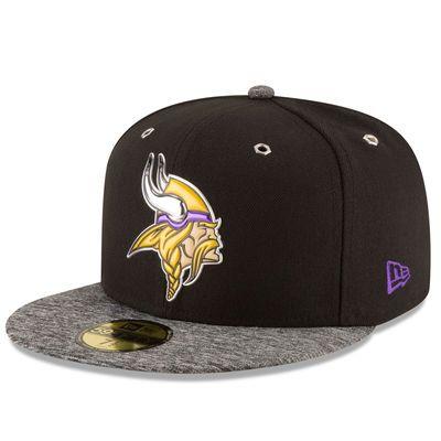 Men s Minnesota Vikings New Era Heathered Gray Black 2016 NFL Draft Shadow  Tech 59FIFTY Fitted Hat 78bb602f5