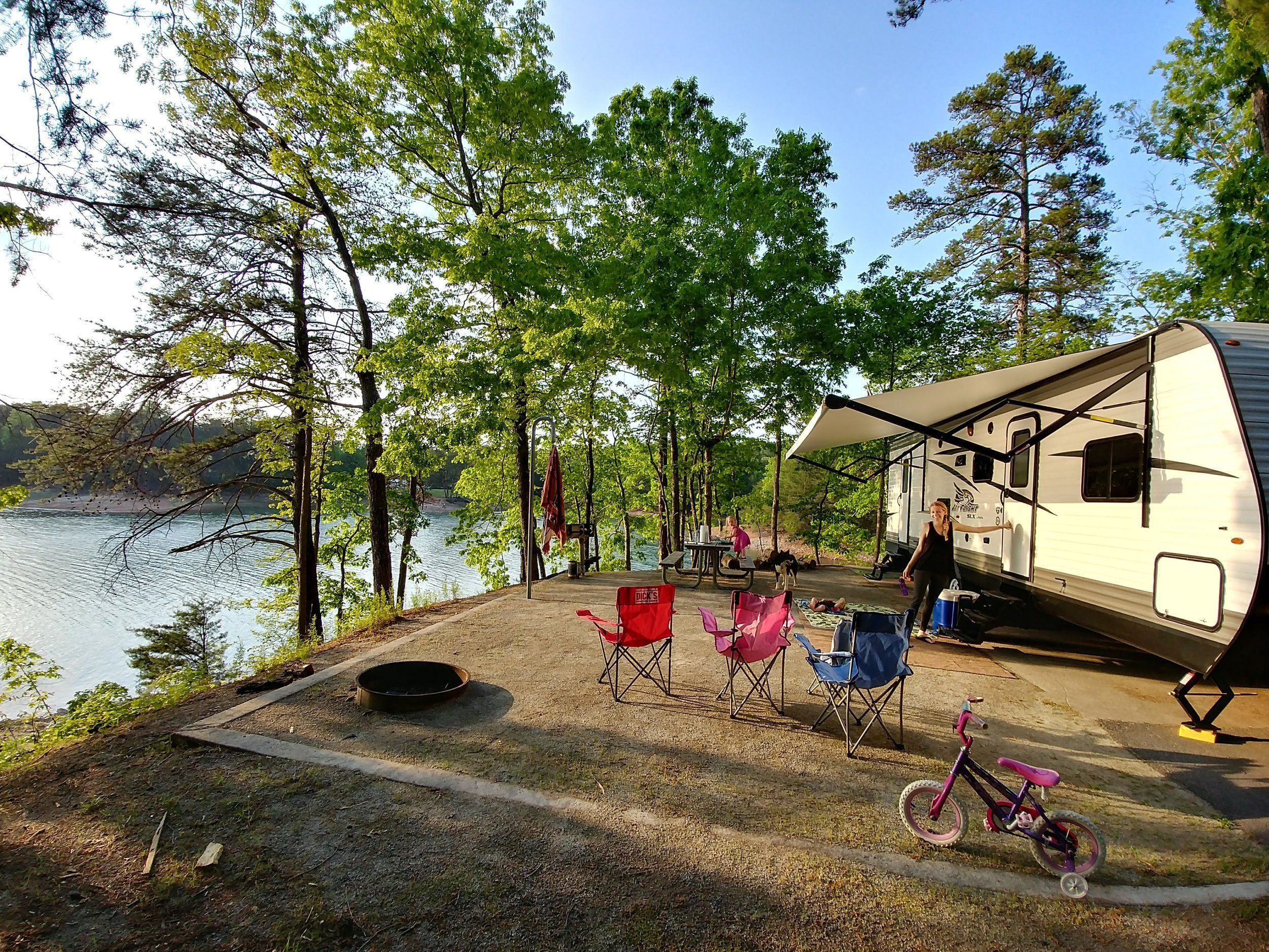 Camping at Ducket Mill Campground on Lake Lanier ...