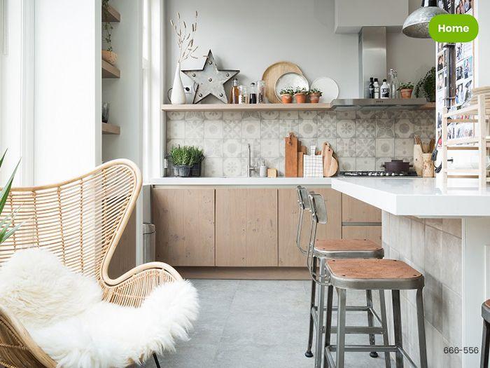 Groene Wandtegels Keuken : Inspiratie harmonieuze keuken met patroontegels uit de serie neo
