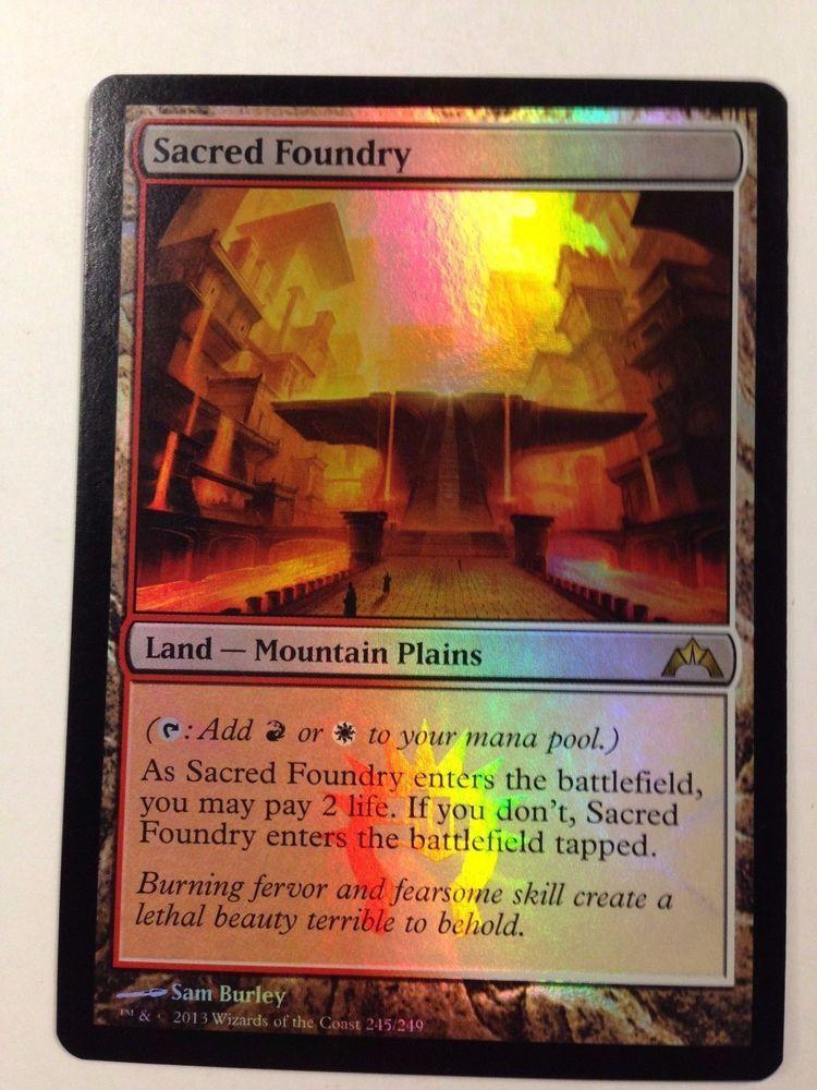 Magic the Gathering: 1x Foil Sacred Foundry from the set Gatecrash NM/M #WizardsoftheCoast #mtg