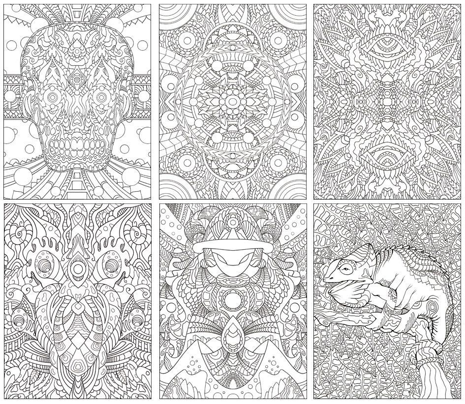 Psychedelic Coloring Book | Coloring Page | Coloring books ...