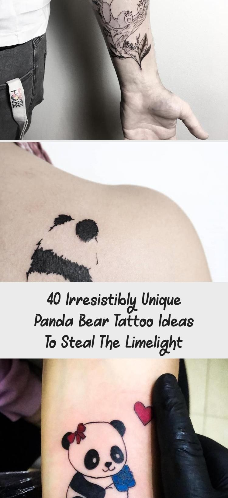 40 Irresistibly Unique Panda Bear Tattoo Ideas To Steal The Limelight - Tattoo -  40 Irresistibly Unique Panda Bear Tattoo Ideas to Steal the Limelight #tattoo #tattooideas #pandata - #Bear #ideas #irresistibly #limelight #panda #steal #tattoo #tattooideascollarbone #tattooideasformen #tattooideassmall #tattooideasunique #unique
