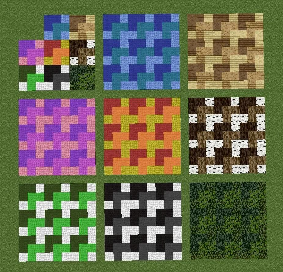 By repeating a 3x3 pattern you can create some cool for Room design 3x3