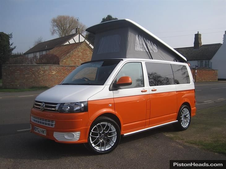 2013 63 REG VOLKSWAGEN CAMPER T5 20 TDI BRAND NEW ORANGE RETRO VAN CONVERSION