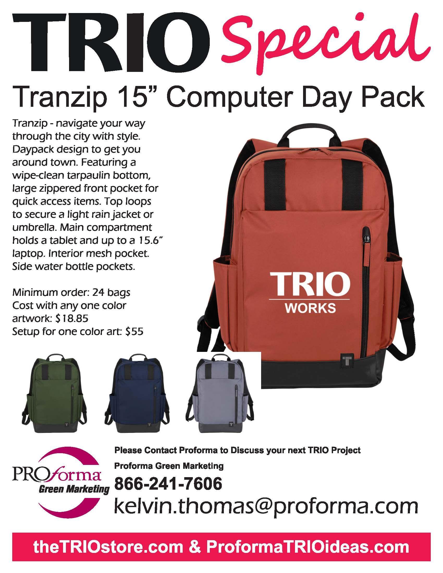 TRIO Tranzip Computer Day Pack