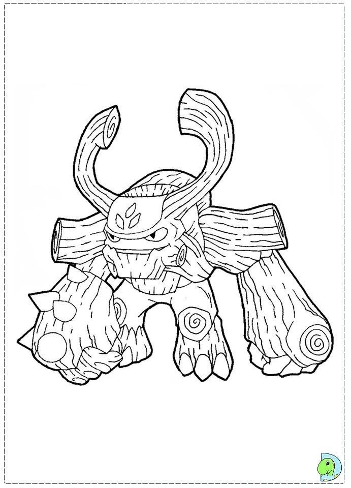 Skylander Coloring Sheets Giants Coloring Pages Printable