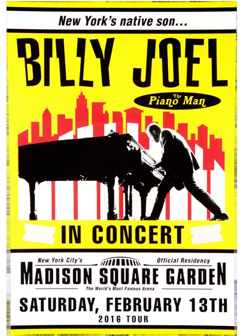 billy joel vintage concert posters