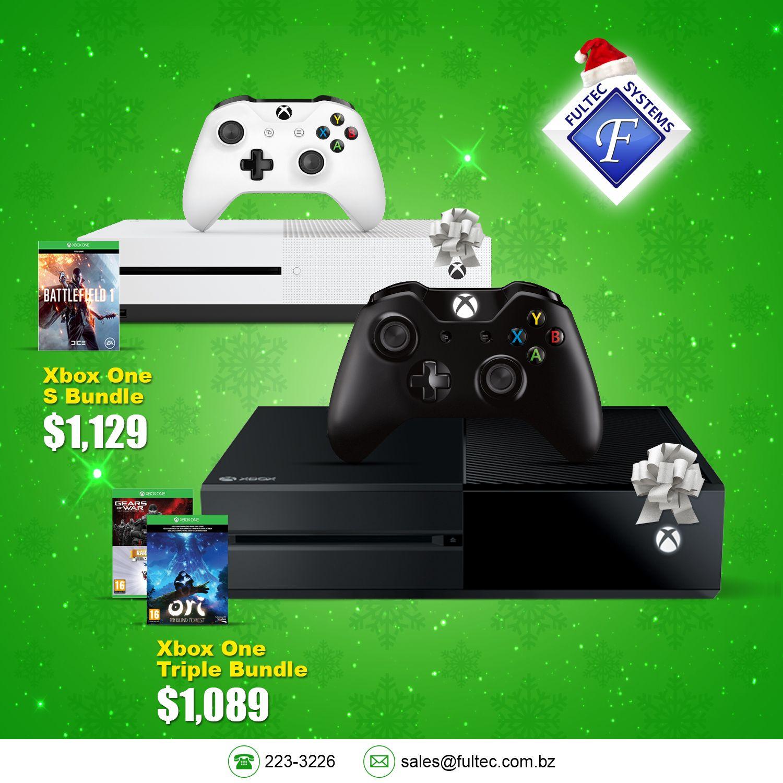 🎄Tech the Halls - Christmas Sale🎁 Joy to the Gamer 👌 Incredible Games. Endless Entertainment. * Microsoft Xbox One 1TB Console - $1,089 * Microsoft Xbox One S 500GB Console - $1,129 #FultecSystems #TechtheHalls #ChristmasSale #Sony #PS4 #Microsoft #XboxOne #XboxOneS