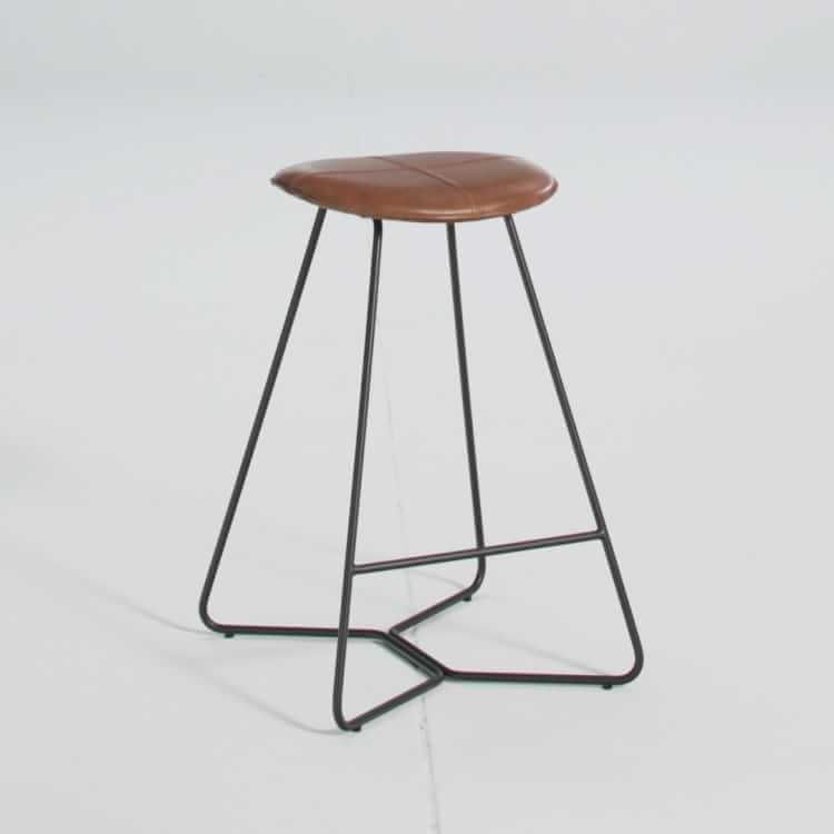 Remarkable Slope Leather Backless Counter Stool House Decoration In Gmtry Best Dining Table And Chair Ideas Images Gmtryco