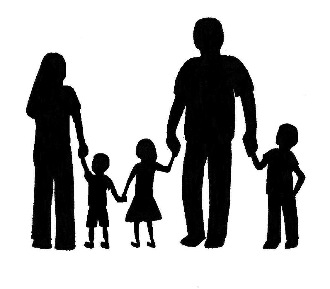 family silhouette paper cut cut pinterest silhouettes paper rh pinterest com