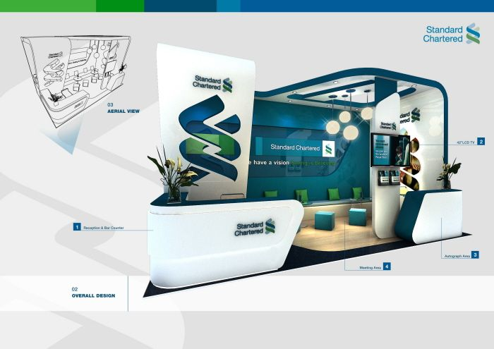 standard chartered bank by weerawich hirankulsap at coroflot com exibition design bank design exhibition stand design bank design exhibition stand design