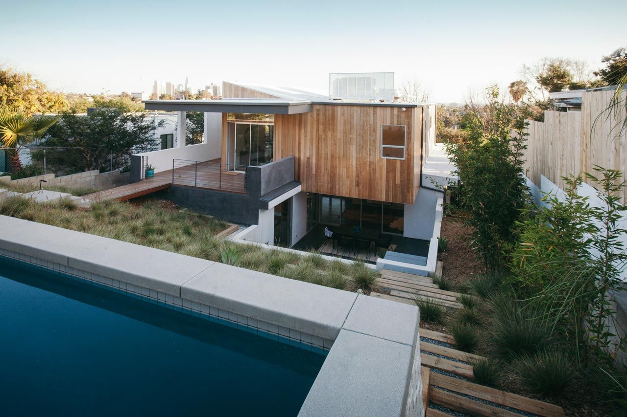 The Three Step House Built On A Steep Hillside In Los Angeles