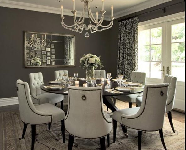 Tufted Chair Designs For Your Dining Table Round Dining Room Table Large Round Dining Table Round Dining Room