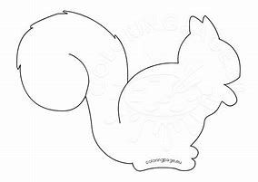 Image result for Colored Free Printable Squirrel Template