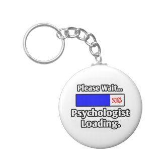 Espere por favor… el cargamento del psicólogo llavero personalizado