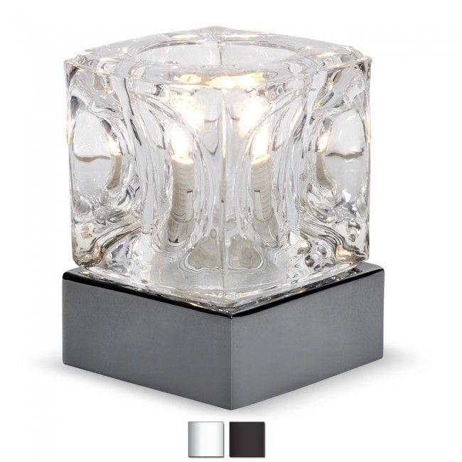 MiniSun Ice Cube Touch Table Lamp In Chrome