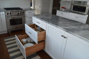 Long Narrow Kitchen With Island Design Ideas, Pictures, Remodel and Decor