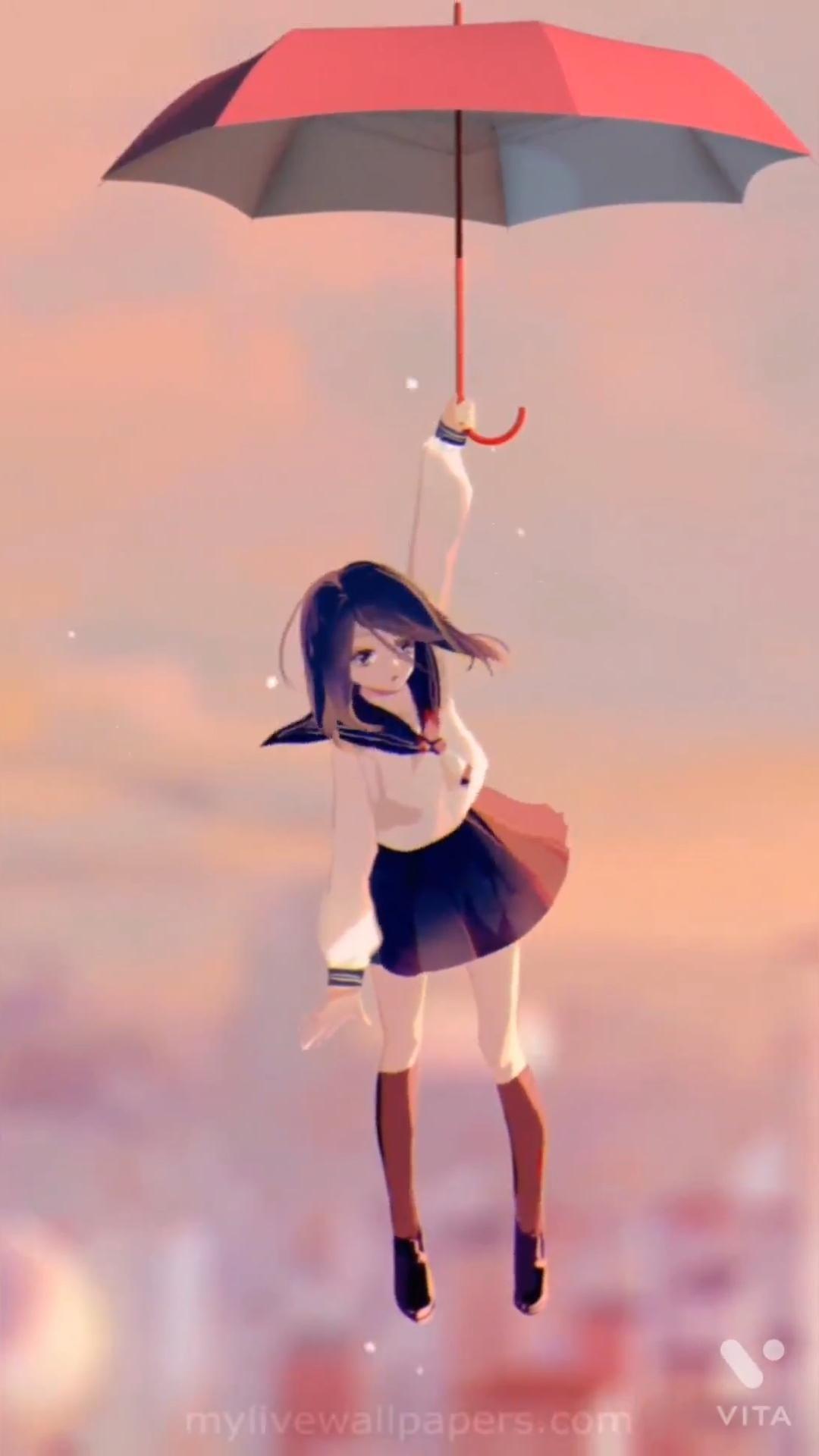 Anime girl in the sky