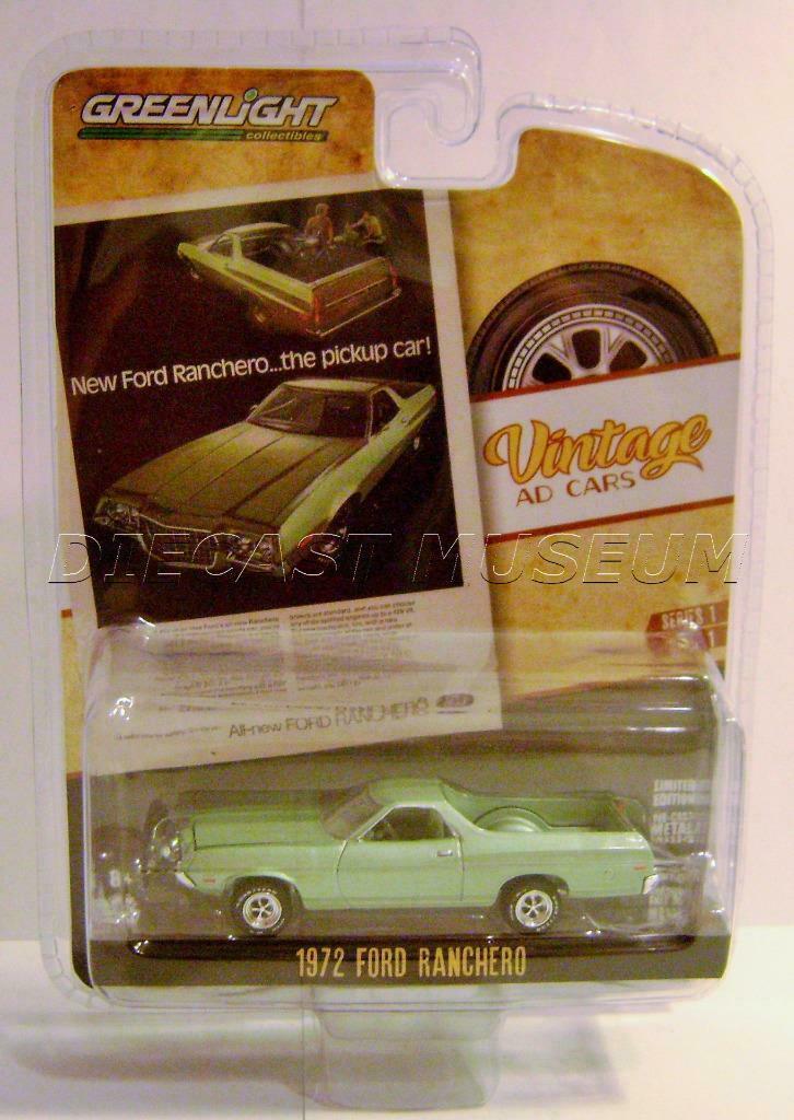 1972 '72 FORD RANCHERO VINTAGE AD CARS SERIES 1 GREENLIGHT DIECAST 2019  | eBay