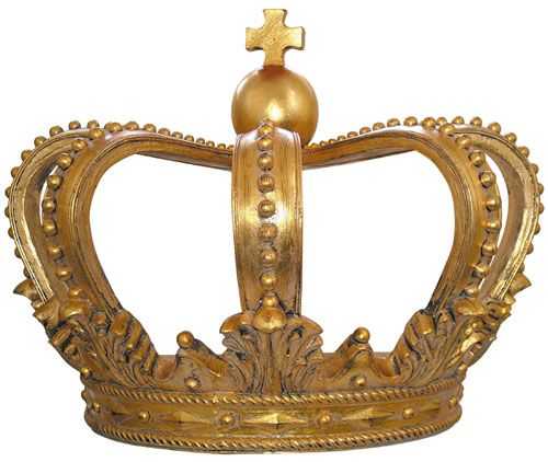 Shabby Chic Gold King Crown Coronet Classical King Crown