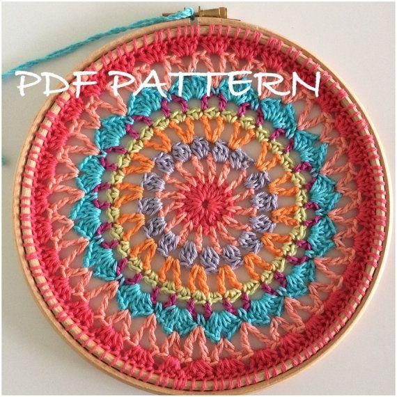 Dream Catcher Crochet Pattern Sun Catcher, Crochet Mandala Pattern ...