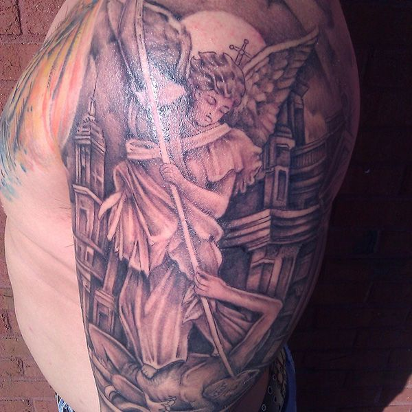 Unique Side Tattoos | st michael side tattoo 27 Perfect St ...