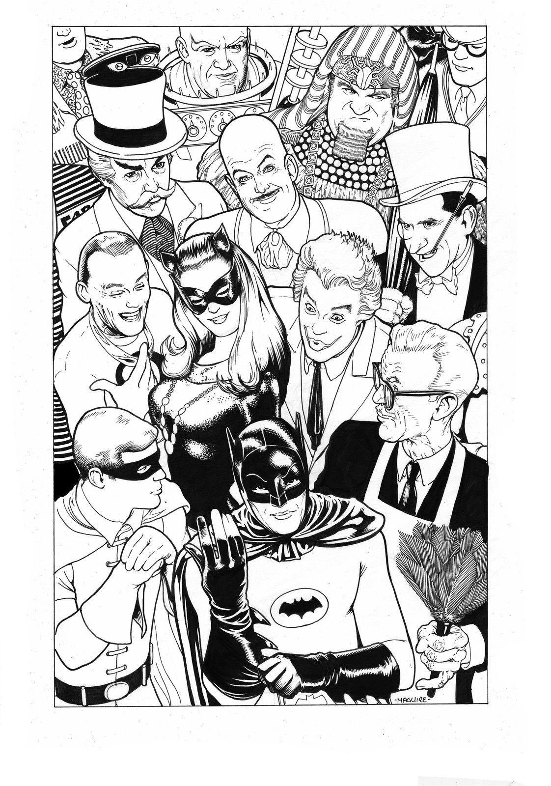 El Batman y Robin (y villanos) de la mítica serie televisiva de los ...